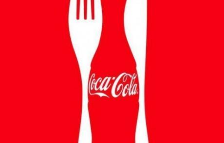 Creative use of the coca cola logo