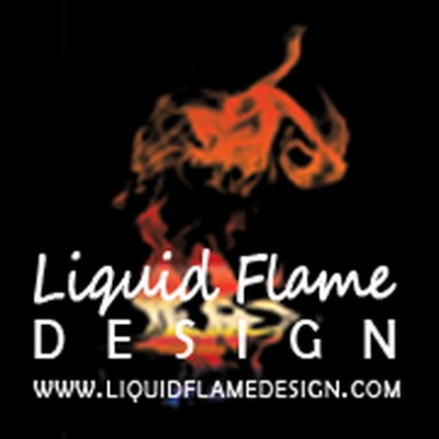 Liquid flame design logo old logo design